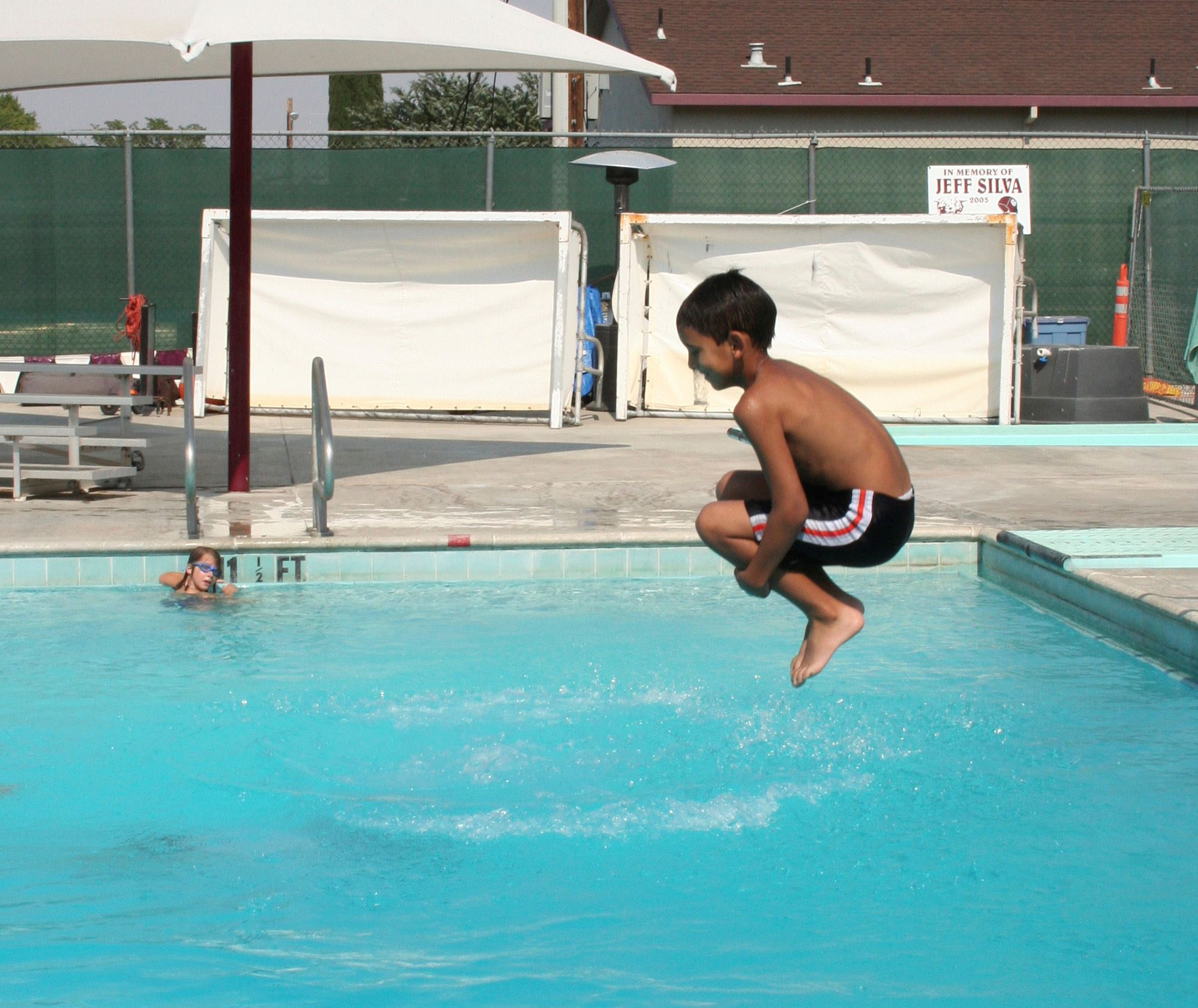Cannonball at Municipal Pool