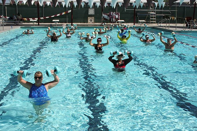 Aqua aerobics class at Municipal Pool