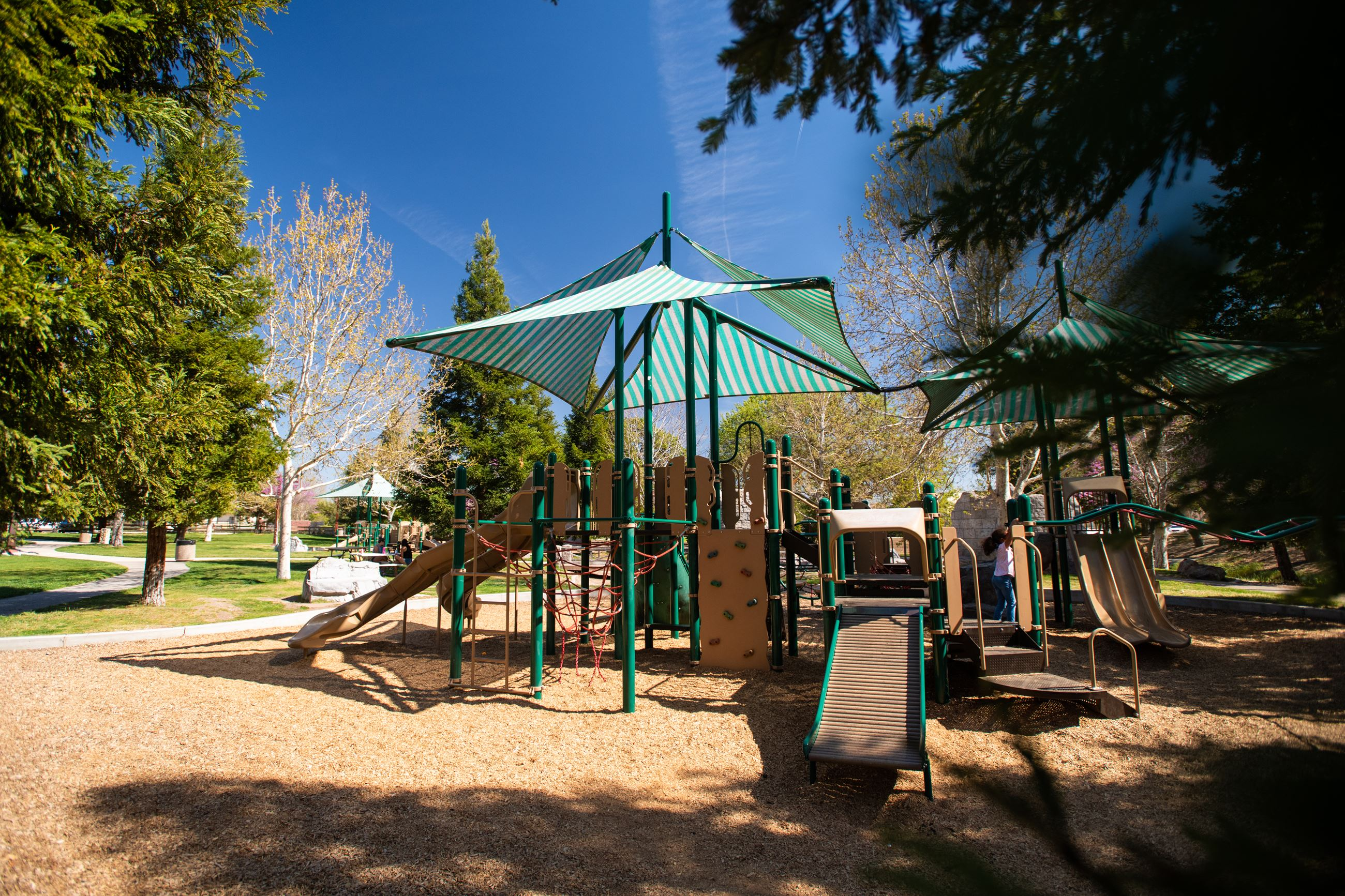 Sherwood Park Playground (climbing obstacles)