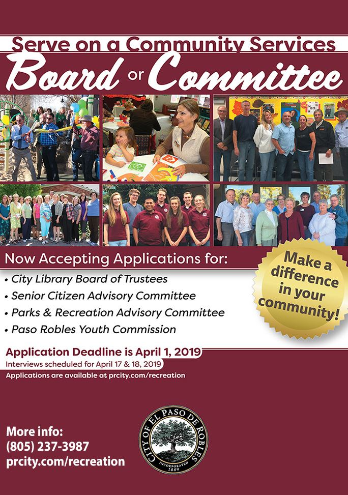 2019 Community Services Board and Committee Flyer