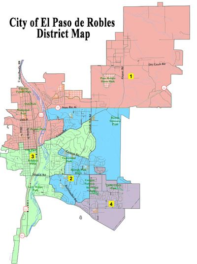 By-District City Council Elections | Paso Robles, CA on site map, local map, chapter map, street map, field map, class map, township map, metropolitan map, facility map, county map, parent map, school map, precinct map, deep loot map,