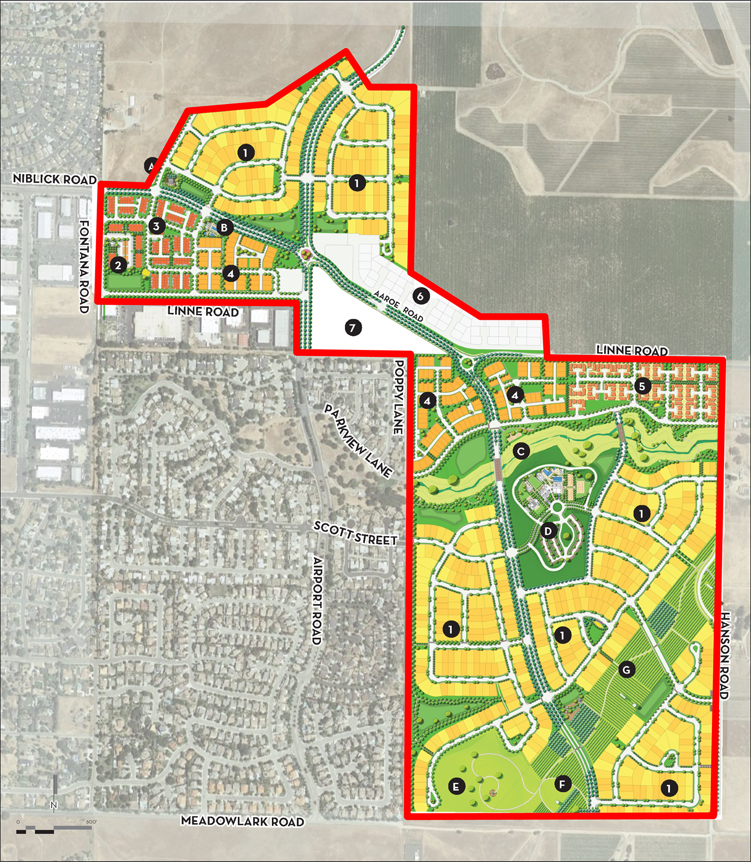 Olsen-South Chandler Property Lines