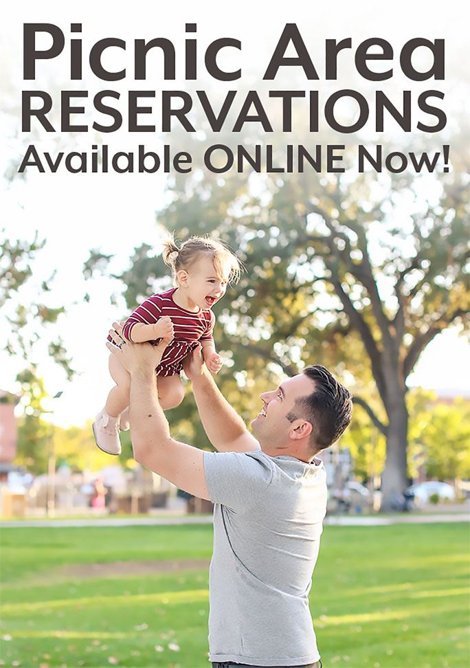Picnic Area Reservations Available ONLINE Now!