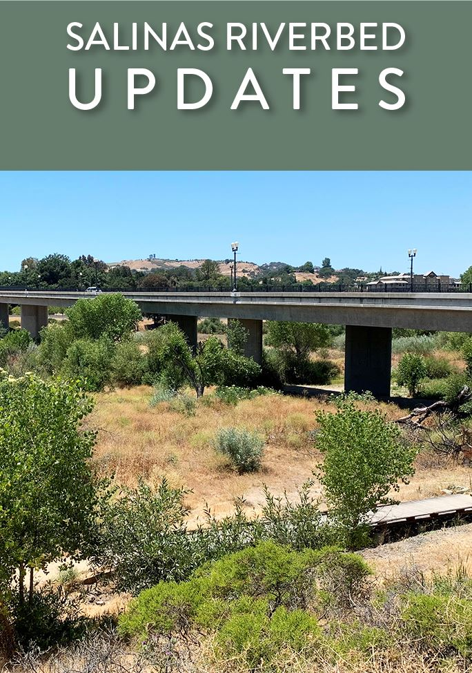 Salinas Riverbed and Niblick Bridge overhead - Salinas Riverbed Updates