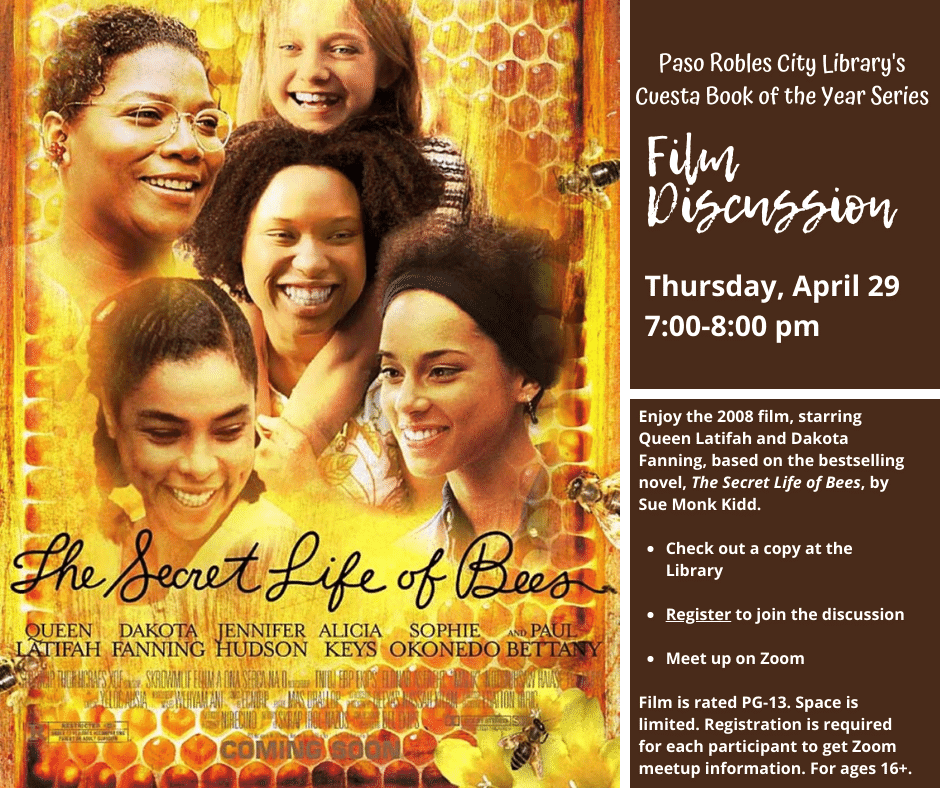 Cover of film Secret Life of Bees, four Afro-American women, smiling